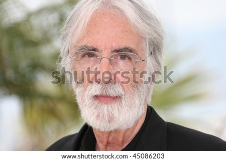 CANNES, FRANCE - MAY 21: Director Michael Haneke attends the The White Ribbon Photocall at the Palais Des Festivals during the 62nd Cannes Film Festival on May 21, 2009 in Cannes, France