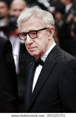 CANNES, FRANCE - MAY 11: Director Woody Allen attends the 'Midnight In Paris' Premiere during the 64th Cannes Film Festival on May 11, 2011 in Cannes, France - stock photo