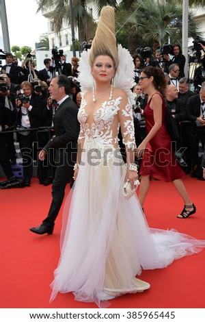 "CANNES, FRANCE - MAY 14, 2015: Elena Lenina at the gala premiere of ""Mad Max: Fury Road"" at the 68th Festival de Cannes. - stock photo"