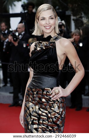 CANNES, FRANCE- MAY 21: Eleonore Boccara attends the Premiere of 'Dheepan' during the 68th Cannes Film Festival on May 21, 2015 in Cannes, France. - stock photo