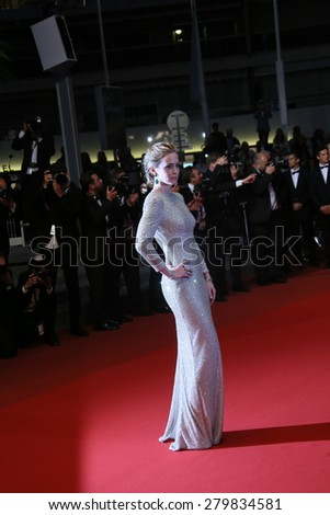 CANNES, FRANCE - MAY 19:  Emily Blunt attends the 'Sicario' premiere during the 68th annual Cannes Film Festival on May 19, 2015 in Cannes, France - stock photo