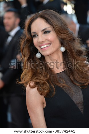 "CANNES, FRANCE - MAY 18, 2015: Eugenia Silva at the gala premiere of Disney/Pixar's ""Inside Out"" at the 68th Festival de Cannes."