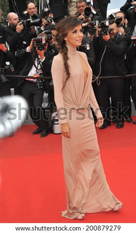 "CANNES, FRANCE - MAY 19, 2014: Eva Longoria at the gala premiere of Foxcatcher"" at the 67th Festival de Cannes."