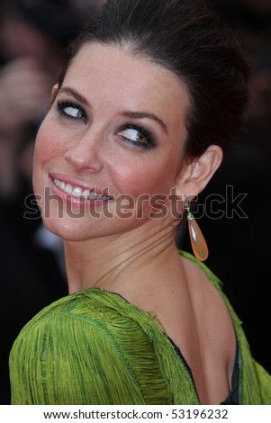CANNES, FRANCE - MAY 15: Evangeline Lilly attends the 'You Will Meet A Tall Dark Stranger' Premiere held at the Palais des Festivals during the 63rd Cannes  Festival on May 15, 2010 in Cannes, France - stock photo