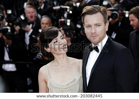 CANNES, FRANCE - MAY 23 : Ewan McGregor and Eve Mavrakis attend the 'On The Road' premiere during the 65th Cannes Film Festival on May 23, 2012 in Cannes, France.