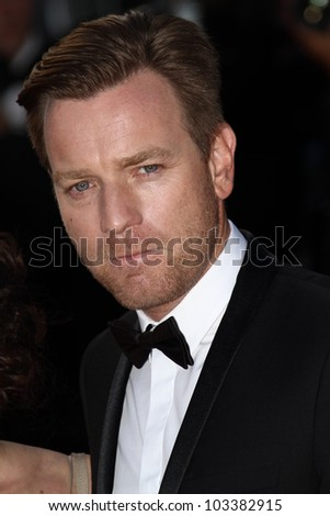 CANNES, FRANCE - MAY 23: Ewan McGregor attends the 'On The Road' Premiere during the 65th Annual Cannes Film Festival at Palais des Festivals on May 23, 2012 in Cannes, France. - stock photo