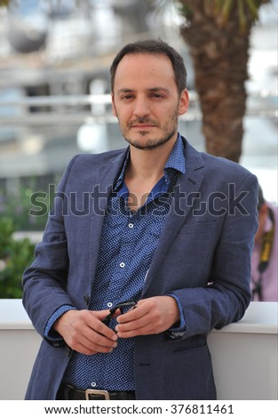 "CANNES, FRANCE - MAY 20, 2014: Fabrizio Rongione at the photocall for his movie ""Two Days, One Night"" at the 67th Festival de Cannes."