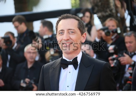 CANNES, FRANCE - MAY 21: Gad Elmaleh attends the 'Elle' Premiere during the 69th annual Cannes Film Festival at the Palais des Festivals on May 21, 2016 in Cannes, France. - stock photo