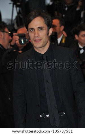 "CANNES, FRANCE - MAY 20, 2012: Gael Garcia Bernal at the premiere of ""Amour"" at the 65th Festival de Cannes. May 20, 2012  Cannes, France"