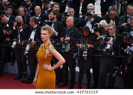 Cannes, France - 11 MAY 2016 - Gaia Weiss attends the screening of 'Cafe Society' at the opening gala of the annual 69th Cannes Film Festival at Palais des Festivals