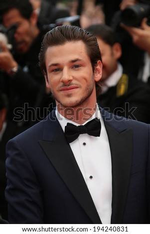 CANNES, FRANCE - MAY 17: Gaspard Ulliel attends the 'Saint Laurent' premiere at the 67th Annual Cannes Film Festival on May 17, 2014 in Cannes, France. - stock photo