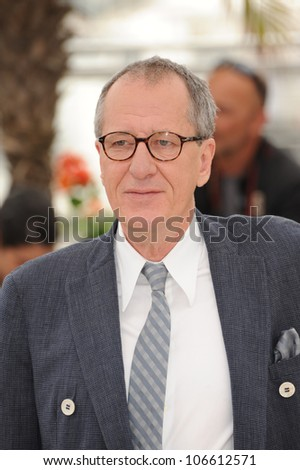 "CANNES, FRANCE - MAY 14, 2011: Geoffrey Rush at the photocall for his movie ""Pirates of the Caribbean: On Stranger Tides"" at the 64th Festival de Cannes. May 14, 2011  Cannes, France"