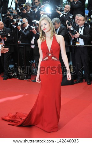 "CANNES, FRANCE - MAY 15, 2013: Georgia May Jagger, daughter of Mick Jagger, at the premiere of ""The Great Gatsby"" the opening movie of the 66th Festival de Cannes.  - stock photo"