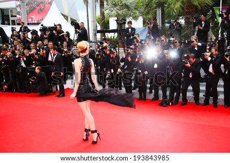 CANNES, FRANCE - MAY 19: Guest attends the 'Foxcatcher' Premiere at the 67th Annual Cannes  Festival on May 19, 2014 in Cannes, France - stock photo