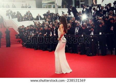 CANNES, FRANCE - MAY 21: Guest  attends 'The Search' Premiere during the 67th Cannes Film Festival on May 21, 2014 in Cannes, France. - stock photo