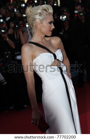 CANNES, FRANCE - MAY 20: Gwen Stefani attends the 'This Must Be The Place' premiere during the 64th Annual Cannes Film Festival at Palais des Festivals on May 20, 2011 in Cannes, France - stock photo