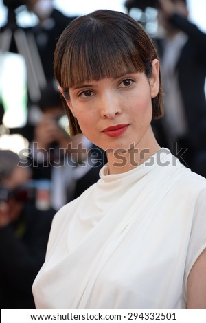 """CANNES, FRANCE - MAY 22, 2015: Hanaa Ben Abdesslem at the gala premiere of """"The Little Prince"""" the 68th Festival de Cannes. - stock photo"""