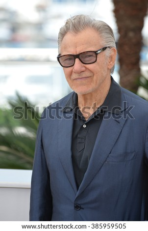 "CANNES, FRANCE - MAY 20, 2015: Harvey Keitel at the photocall for his movie ""Youth"" at the 68th Festival de Cannes."