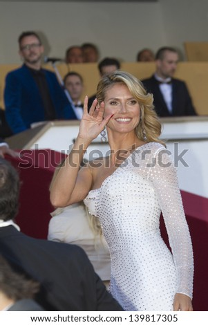 CANNES, FRANCE - MAY 23: Heidi Klum attends the 'Nebraska' premiere during The 66th Cannes Film Festival at the Palais des Festival on May 23, 2013 in Cannes, France. - stock photo