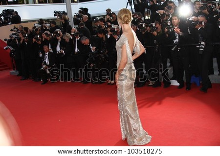 CANNES, FRANCE - MAY 24: Heidi Klum attends the 'The Paperboy' premiere during the 65th Cannes Film Festival at Palais des Festivals on May 24, 2012 in Cannes, France - stock photo