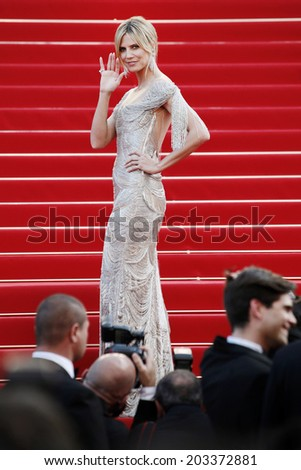 CANNES, FRANCE - MAY 24: Heidi Klum attends the 'The Paperboy' premiere during the 65th Cannes Film Festival on May 24, 2012 in Cannes, France. - stock photo
