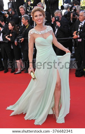 CANNES, FRANCE - MAY 24, 2014: Hofit Golan at the gala awards ceremony at the 67th Festival de Cannes. - stock photo