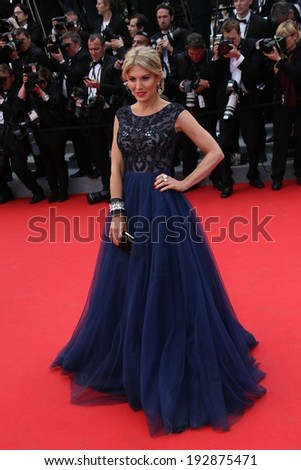 CANNES, FRANCE - MAY 14: Hofit Golan attends the opening ceremony and 'Grace of Monaco' premiere at the 67th Annual Cannes Film Festival on May 14, 2014 in Cannes, France. - stock photo