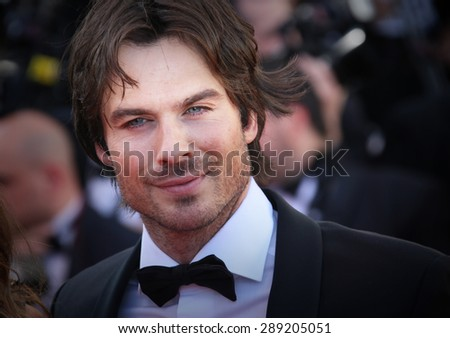CANNES, FRANCE - MAY 20, 2015: Ian Sonerhalder attends the 'Youth' Premiere during the 68th annual Cannes Film Festival on May 20, 2015 in Cannes, France.