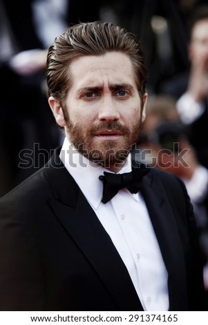 CANNES, FRANCE- MAY 13: Jake Gyllenhaal attends the opening ceremony during the 68th Cannes Film Festival on May 13, 2015 in Cannes, France. - stock photo