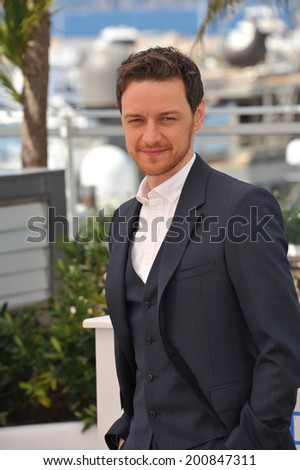 "CANNES, FRANCE - MAY 18, 2014: James McAvoy at the photocall for their movie ""The Disappearance of Eleanor Rigby"" at the 67th Festival de Cannes."
