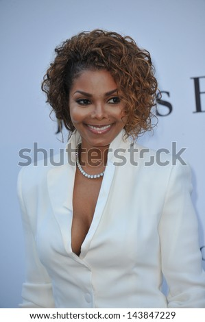 CANNES, FRANCE - MAY 23, 2013: Janet Jackson at amfAR's 20th Cinema Against AIDS Gala at the Hotel du Cap d'Antibes, France  - stock photo