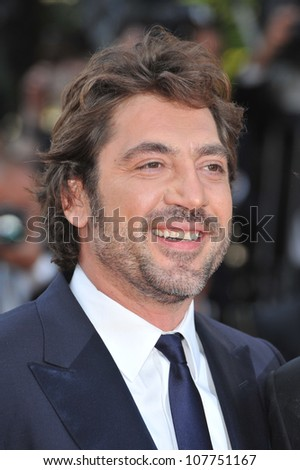 CANNES, FRANCE - MAY 23, 2010: Javier Bardem at the closing Awards Gala at the 63rd Festival de Cannes.