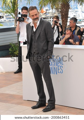 "CANNES, FRANCE - MAY 17, 2014: Jeffrey Dean Morgan at photo call for his movie ""The Salvation"" at the 67th Festival de Cannes.  - stock photo"