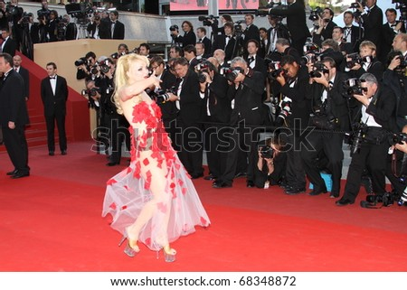 CANNES, FRANCE - MAY 13: Julie Atlas Muz attends the premiere of 'On Tour' held at the Palais des Festivals during the 63rd Cannes Film Festival on May 13, 2010 in Cannes, France - stock photo
