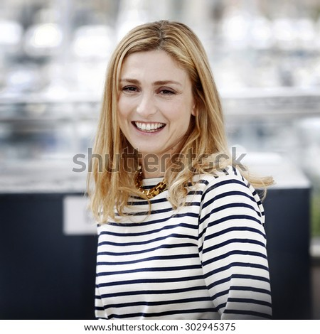 CANNES, FRANCE- MAY 24: Julie Gayet attends the 'Treasure' photo-call during the 68th Cannes Film Festival on May 21, 2015 in Cannes, France. - stock photo