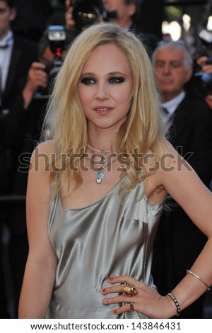 "CANNES, FRANCE - MAY 23, 2013: Juno Temple at the premiere of ""The Immigrant"" at the 66th Festival de Cannes.  - stock photo"