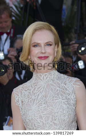 CANNES, FRANCE - MAY 23: Jury members Nicole Kidman  attends the 'Nebraska' premiere during The 66th Cannes Film Festival at the Palais des Festival on May 23, 2013 in Cannes, France. - stock photo