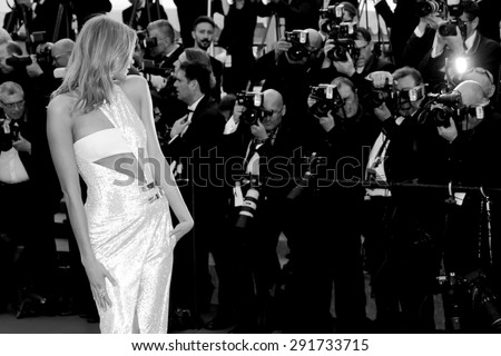 CANNES, FRANCE- MAY 13: Karlie Kloss attends the opening ceremony during the 68th Cannes Film Festival on May 13, 2015 in Cannes, France. - stock photo