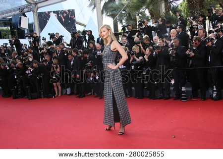 CANNES, FRANCE - MAY 20, 2015: Karlie Kloss attends the 'Youth' Premiere during the 68th annual Cannes Film Festival on May 20, 2015 in Cannes, France. - stock photo