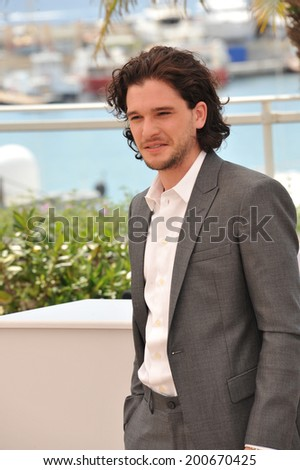 "CANNES, FRANCE - MAY 16, 2014: Kat Harington at the photocall for his movie ""How to Train Your Dragon 2"" at the 67th Festival de Cannes."