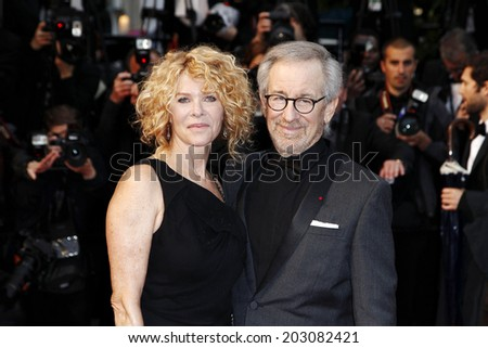 CANNES, FRANCE - MAY 18:  Kate Capshaw and Steven Spielberg attend the Premiere of 'Jimmy P.'  during The 66th Cannes Film Festival on May 18, 2013 in Cannes, France.