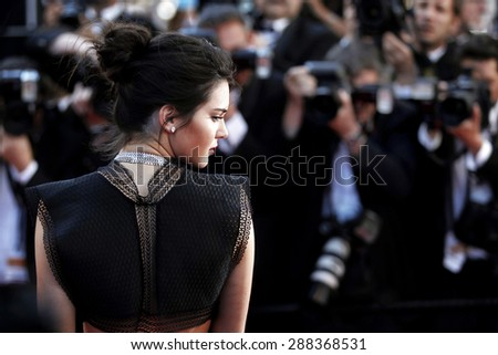 CANNES, FRANCE- MAY 20: Kendall Jenner attends the Premiere of 'Youth' during the 68th Cannes Film Festival on May 20, 2015 in Cannes, France. - stock photo