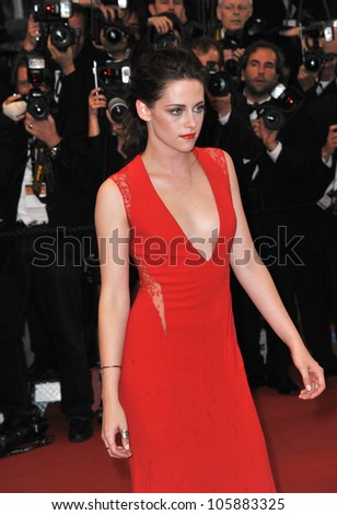 "CANNES, FRANCE - MAY 25, 2012: Kristen Stewart at the gala screening of ""Cosmopolis"" in Cannes. May 25, 2012  Cannes, France"
