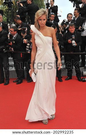 "CANNES, FRANCE - MAY 21, 2014: Lady Victoria Hervey at the gala premiere of ""The Search"" at the 67th Festival de Cannes."