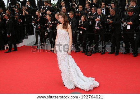 CANNES, FRANCE - MAY 14: Laetitia Casta attends the opening ceremony and 'Grace of Monaco' premiere at the 67th Annual Cannes Film Festival on May 14, 2014 in Cannes, France. - stock photo