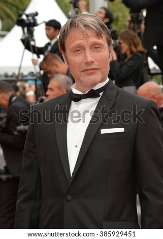 CANNES, FRANCE - MAY 24, 2015: Lambert Wilson at the closing gala at the 68th Festival de Cannes.