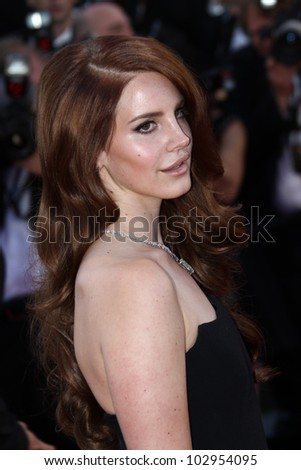 CANNES, FRANCE - MAY 16: Lana Del Rey attends opening ceremony and 'Moonrise Kingdom' premiere during the 65th  Cannes Film Festival at Palais des Festivals on May 16, 2012 in Cannes, France. - stock photo