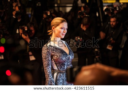 Cannes, France - 19 MAY 2016 - Lea Seydoux attends the 'It's Only The End Of The World (Juste La Fin Du Monde)' Premiere during the 69th annual Cannes Film Festival
