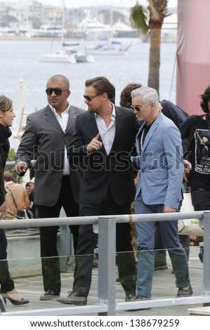 CANNES, FRANCE - MAY 15: Leonardo DiCaprio, Baz Luhrmann at the photocall for 'The Great Gatsby' at The 66th Annual Cannes Film Festival at Palais des Festivals on May 15, 2013 in Cannes, France