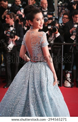 Cannes, France - May 16, 2015: Li Bingbing attends the Premiere of 'The Sea Of Trees' during the 68th annual Cannes Film Festival on May 16, 2015 in Cannes, France. - stock photo